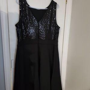 Lane Bryant Dresses - Black sequence dress